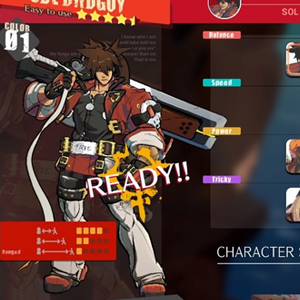 Guilty Gear Strive Character Select
