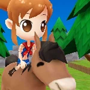 Harvest Moon The Lost Valley Nintendo 3DS Riding a Horse