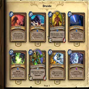 Hearthstone Heroes of Warcraft Deck of Cards Card Selection