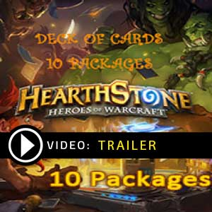 Buy Hearthstone Heroes of Warcraft Deck of Cards 10 Packages GameCard Code Compare Prices