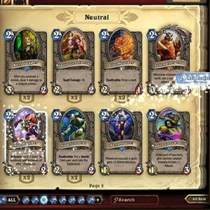 Hearthstone Heroes of Warcraft Deck of Cards Choose Your Cards