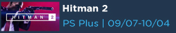 Hitman 2 Free with PS Plus