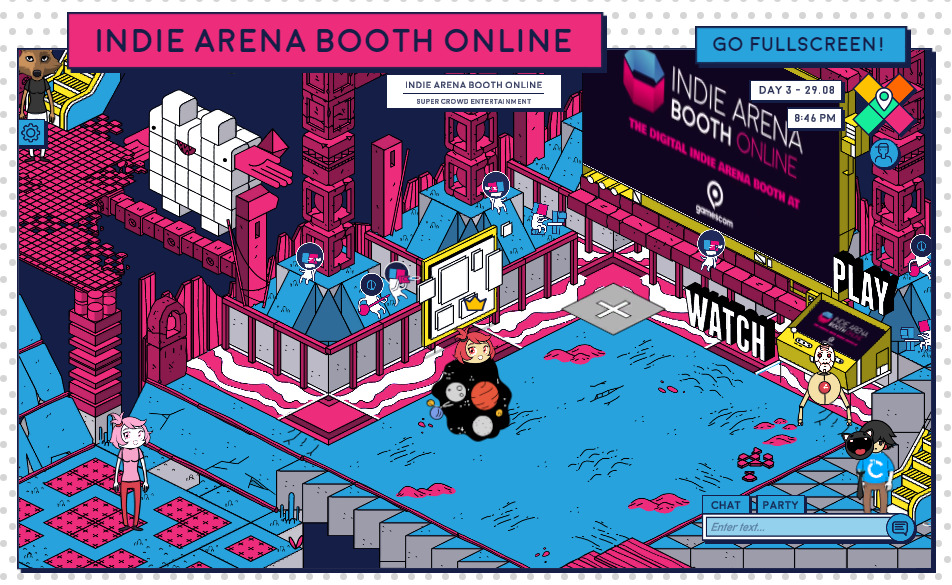 Indie Arena Booth Online