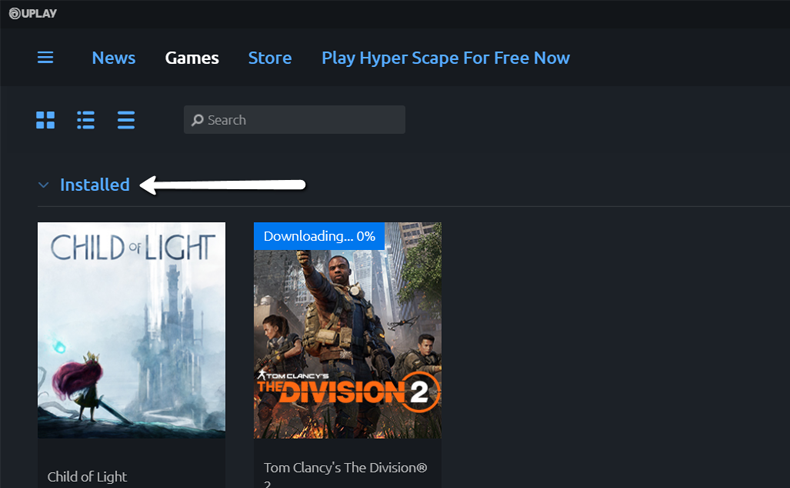 Uplay Installed library