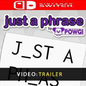 Just a Phrase by POWGI Nintendo Switch Prices Digital or Box Edition