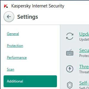 Kaspersky Anti Virus 2019 additional
