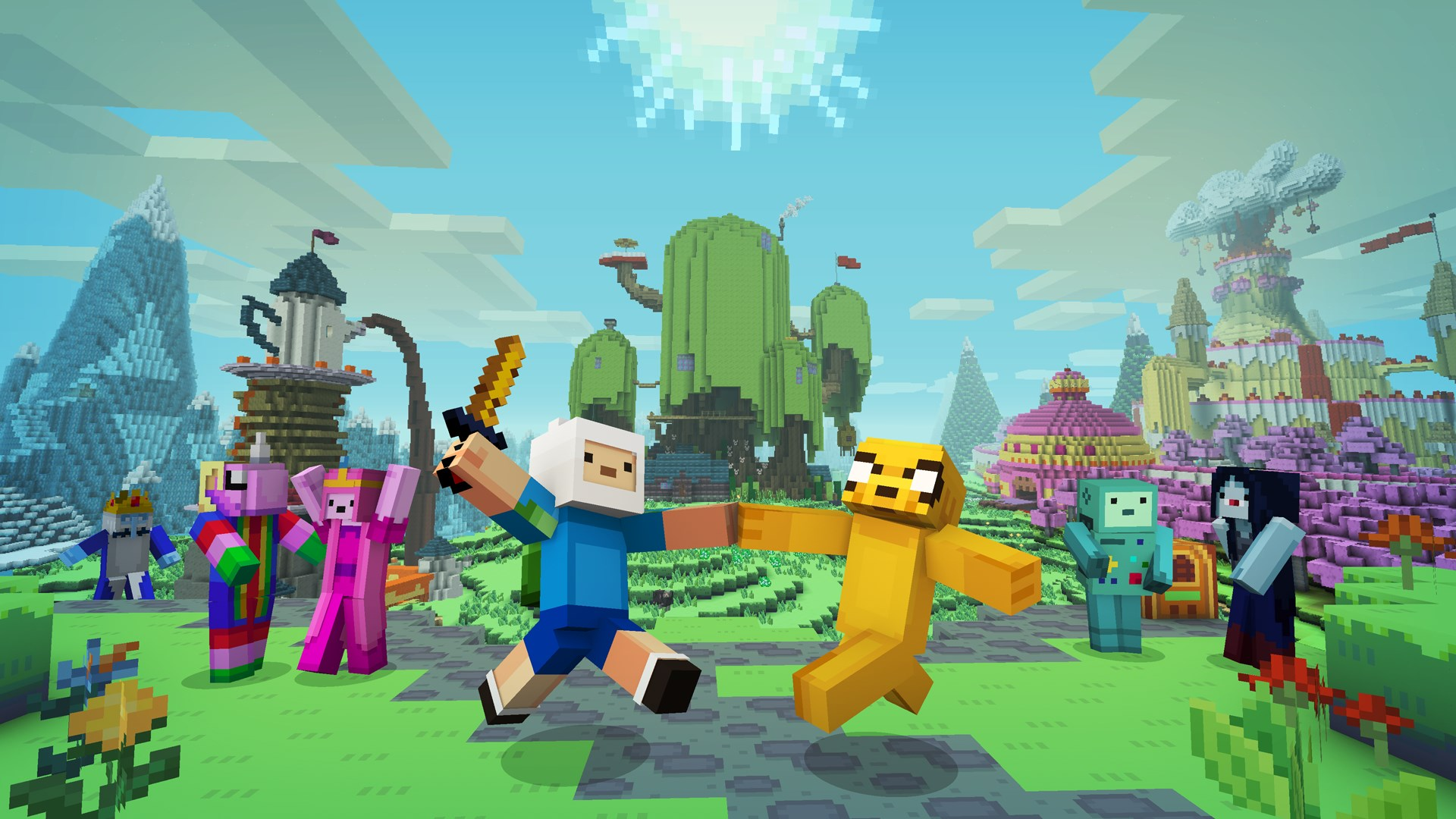 Minecraft Adventure Time Skin Pack