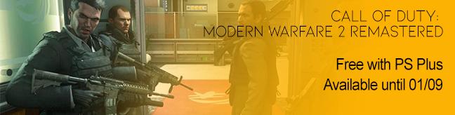 COD Modern Warfare 2 Remastered on PS Plus