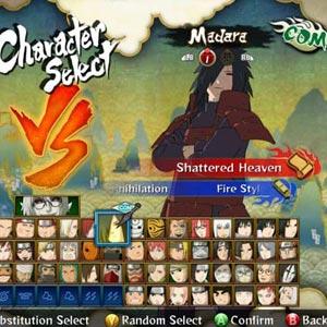 Naruto Shippuden 3 Character Select