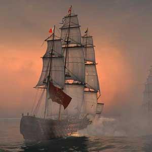 Naval Action Santisima Trinidad in action