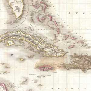Naval Action Pinkerton map of the West Indies