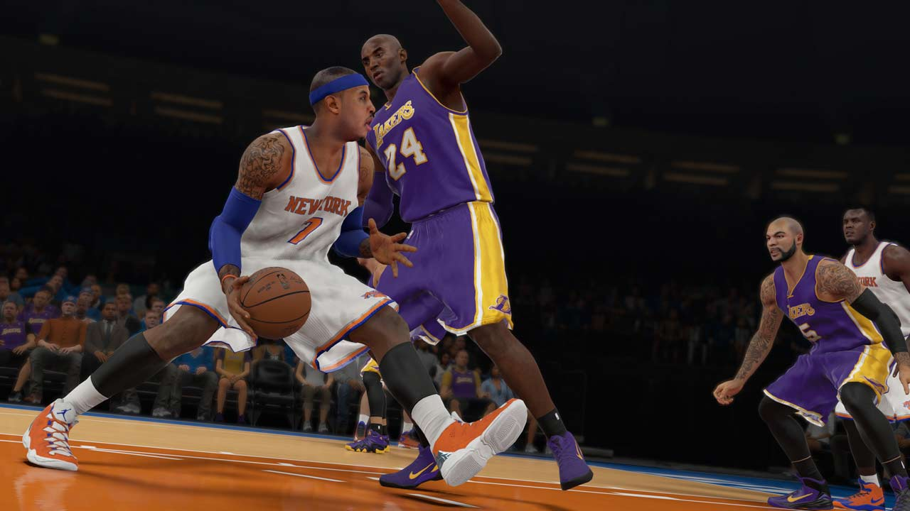 nba2k15 Gameplay nba 2k15 features a number of significant gameplay improvements, including approximately 5,000 new animations, all-new defensive ai, shooting systems, new team-specific play sets, and more control over rebounding, steals, and blocks making players feel engaged in every basketball decision and action.