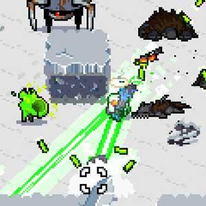 Laser Mini-gun in frozen cities