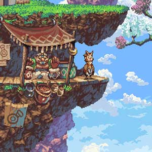 Owlboy's world in the clouds