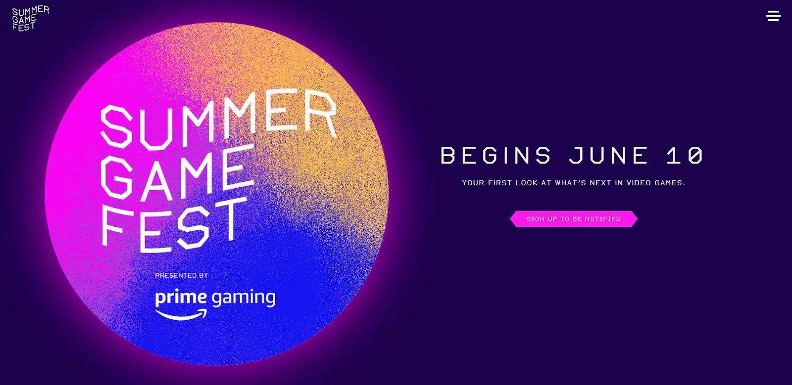 Summer Game Fest Dates