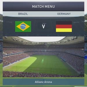 Pro Evolution Soccer 2015 Xbox One Match Menu