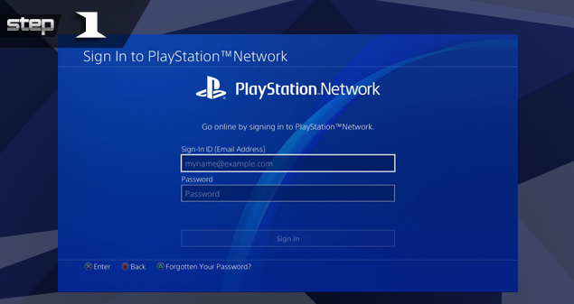 Playstation Sign in temporary account