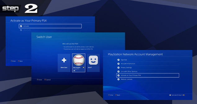 Playstation revert back from temporary account