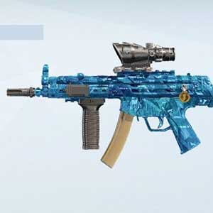 Blue weapon skin