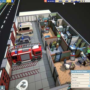 Rescue HQ The Tycoon Gameplay Interface