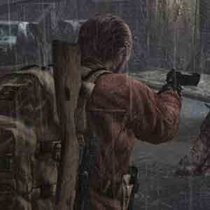 Resident Evil Revelations 2 PS4 Barry Burton using a pistol