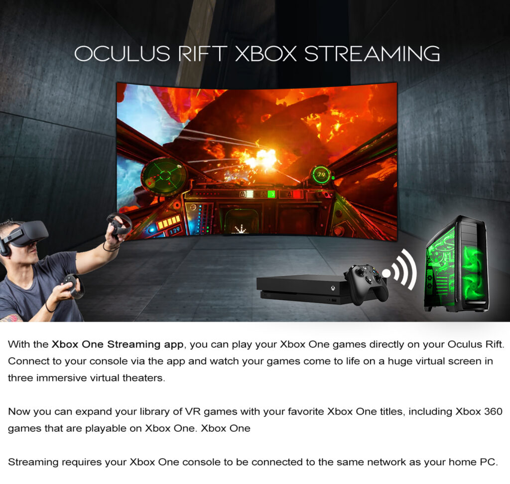 Oculus Rift Xbox Streaming