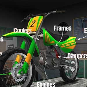 Details of the motocross bike