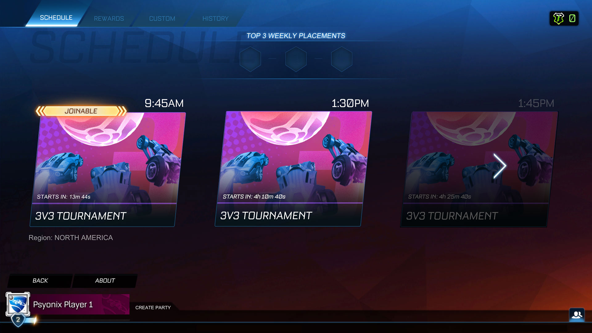 Rocket League Weekly Placements