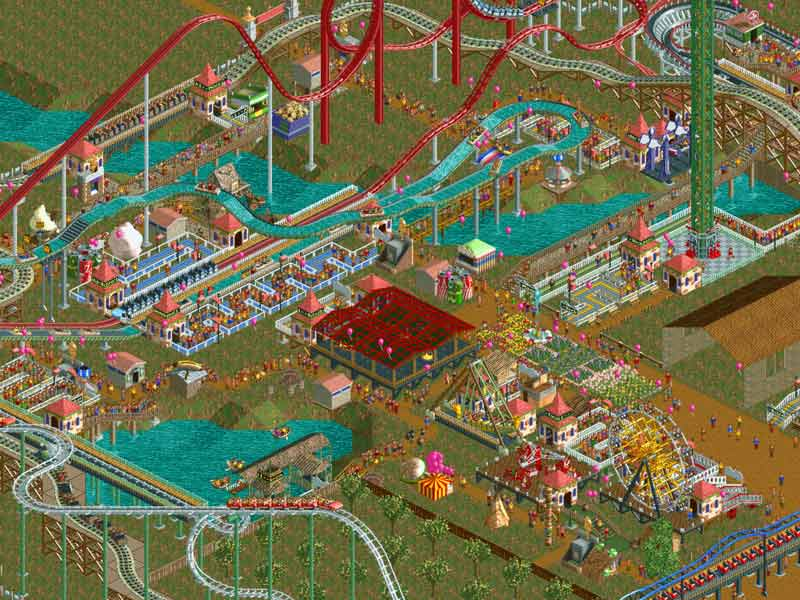 roller coaster tycoon 2 games