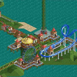 Rollercoaster Tycoon Deluxe Theme park