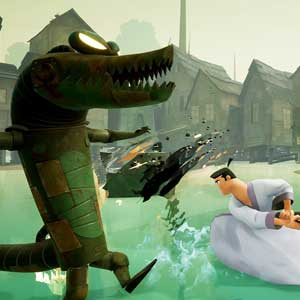 Samurai Jack Battle Through Time alligator robots