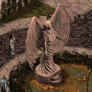 Sanitarium: An Angel Statue in the Yard