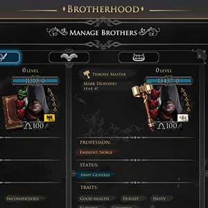 Brotherhood players dashboard