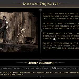 Mission objective before the game