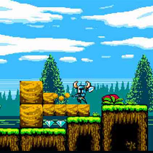 Shovel Knight Digging for Loot
