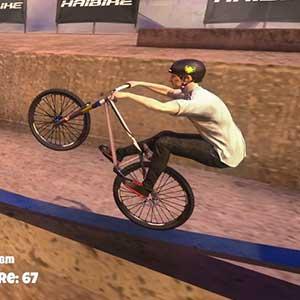 Mastering railings bike stunt