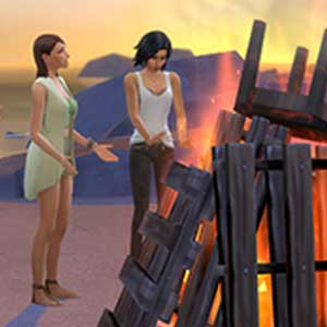 The Sims 4 Get Together Burned Fire