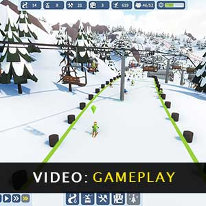 Snowtopia Ski Resort Builder Gameplay Video