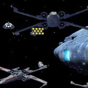 Space base under attack