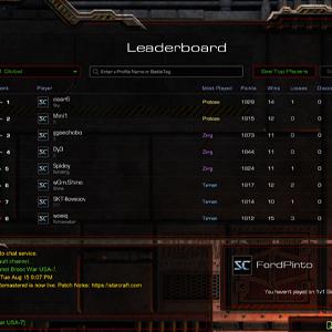 StarCraft Remastered Leaderboard