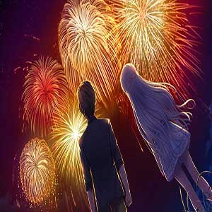 Hairi Takahara and Kamome Kushima watching fireworks