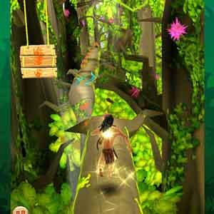 Tarzan Unleashed - Tarzan collecting power-ups