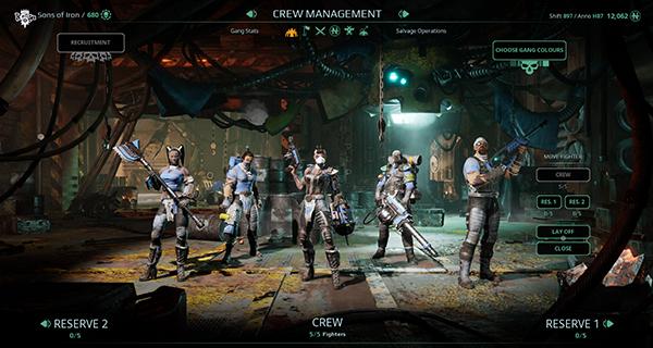 Necromunda: Underhive Wars Crew Management