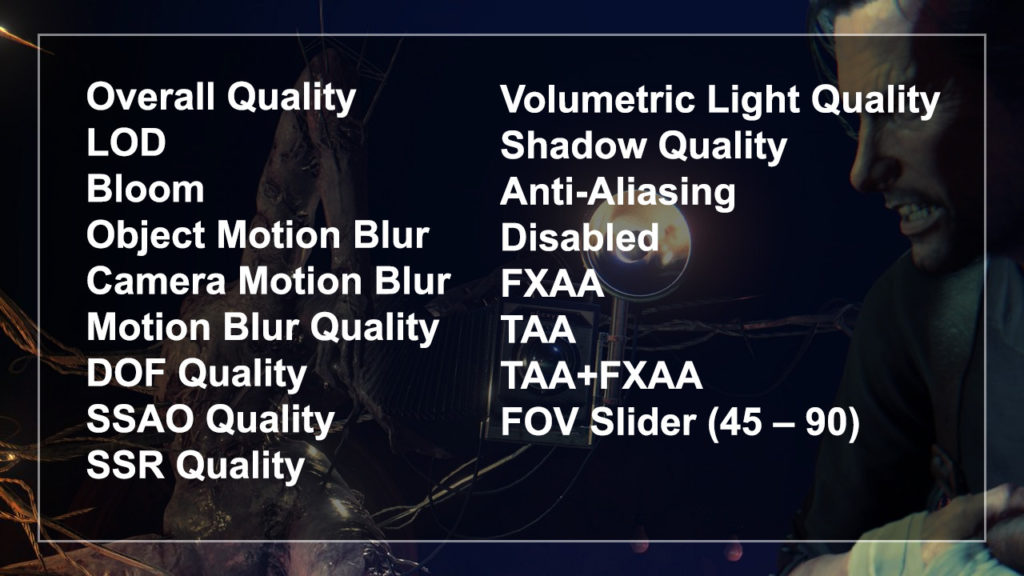 The Evil Within 2 PC Advanced Settings