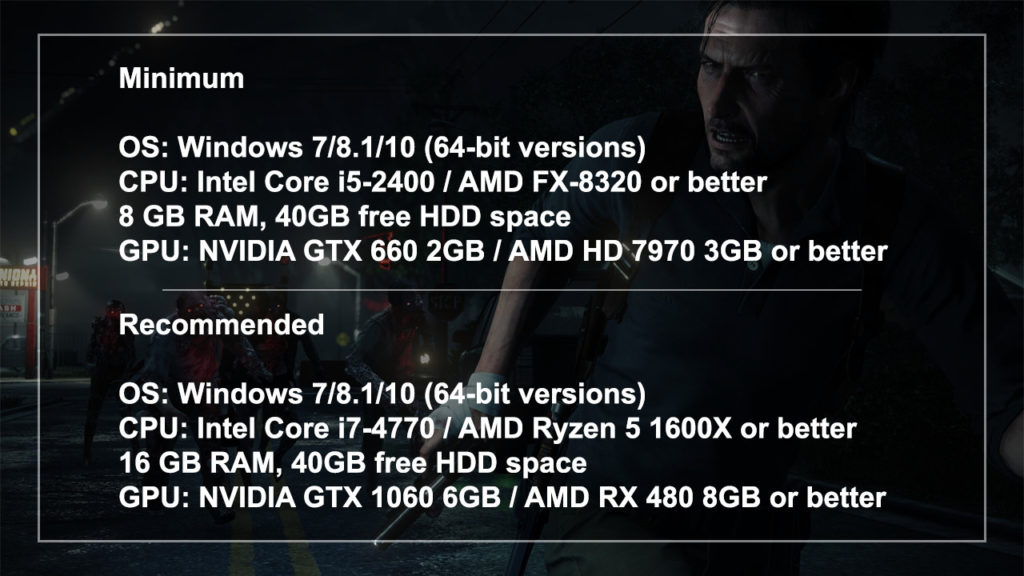 The Evil Within 2 System Requirements
