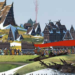 The Banner Saga 2 The village of Skogr