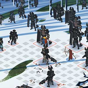 The Banner Saga 2 Battle of snowy cliffs