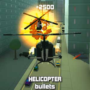Crashing helicopter