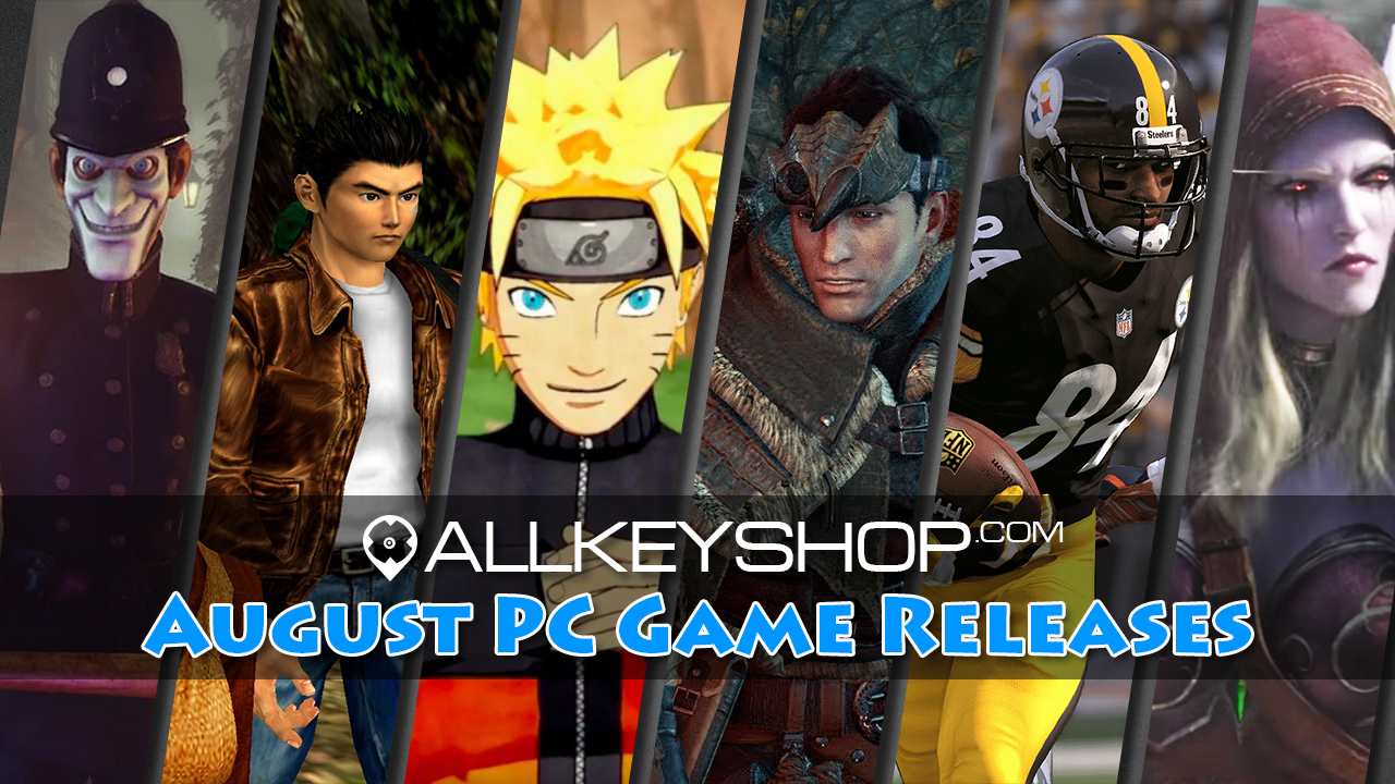Top PC Game Releases for August 2018