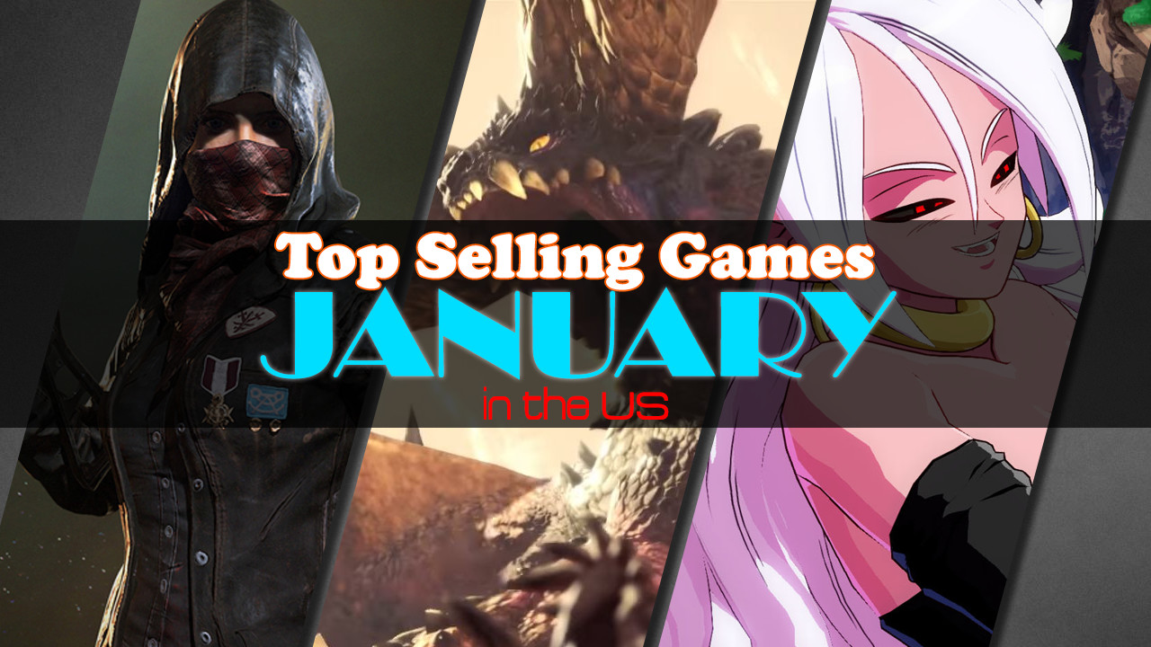 Top Selling Games in the US January 2018